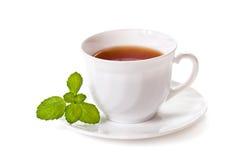 De kop van de thee met munt Stock Foto