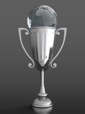 De kop van de trofee met glasbol Royalty-vrije Stock Afbeeldingen