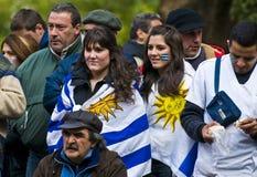 De kop van de wereld 2010 in Montevideo Uruguay Royalty-vrije Stock Fotografie