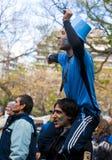 De kop van de wereld 2010 in Montevideo Uruguay Stock Foto's