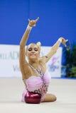 De Kop van de Wereld van de bal van Kanaeva van Evgeniya Pesaro 2010 Stock Afbeelding