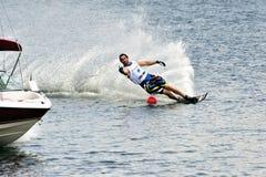 De Kop van de Wereld van de waterski 2008 in Actie: De Slalom van de mens Royalty-vrije Stock Foto's