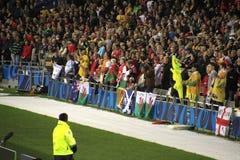 De Kop van de Wereld van het rugby 2011 Australië tegenover Wales Stock Afbeelding