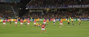 De Kop van de Wereld van het rugby 2011 Australië tegenover Wales Royalty-vrije Stock Foto's