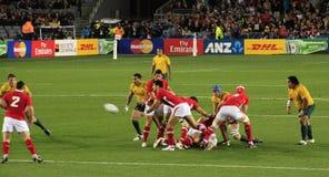 De Kop van de Wereld van het rugby 2011 Australië tegenover Wales Royalty-vrije Stock Afbeelding