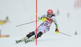 De Kop van FIS Europa - de Slalom van Vrouwen royalty-vrije stock foto