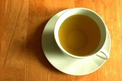 De kop van groene thee Stock Afbeeldingen