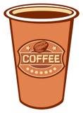 De kop van het document van koffie Stock Foto's