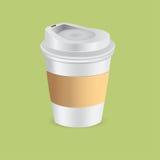 De kop van het document van koffie Stock Afbeeldingen