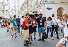De kop van het de straatvoetbal van Moskou Stock Afbeeldingen