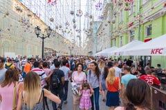 De kop van het de straatvoetbal van Moskou Stock Fotografie