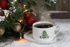 De kop van Kerstmis van koffie Royalty-vrije Stock Foto's