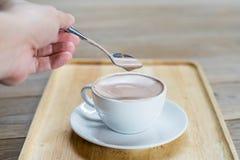 De kop van de koffie op de lijst Royalty-vrije Stock Foto