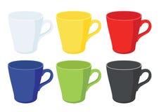 De kop van de koffie op witte achtergrond royalty-vrije illustratie