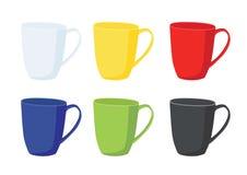 De kop van de koffie op witte achtergrond vector illustratie