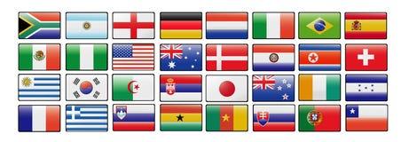De kop vectorvlaggen van de wereld Stock Foto's