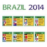 De kop 2014, Voetbaltoernooien van Brazilië. Royalty-vrije Stock Afbeeldingen