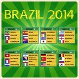 De kop 2014, Voetbaltoernooien van Brazilië. Stock Afbeeldingen
