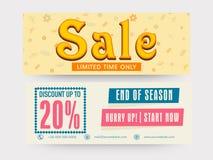 De kopbal of de banner van de verkoopwebsite Royalty-vrije Stock Fotografie