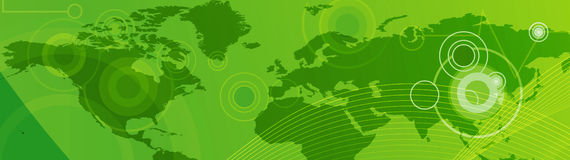 De kopbal/de Banner van het Web stock illustratie
