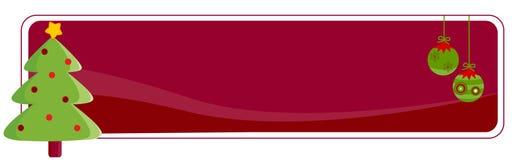 De Kopbal/de Banner van Kerstmis Stock Foto