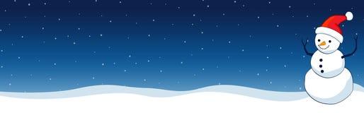 De Kopbal/de Banner van Kerstmis Stock Afbeelding