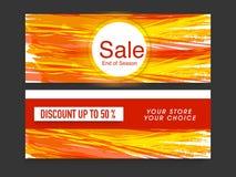 De kopbal of de bannerreeks van de verkoopwebsite Royalty-vrije Stock Foto's