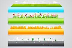 De Kopbal van de vier seizoenen vector illustratie