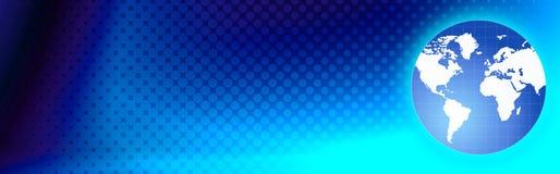 De kopbal van het Web van de reis/wereldbol stock illustratie