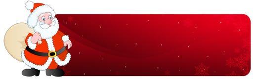 De Kopbal van Kerstmis/santa van de Banner vector illustratie