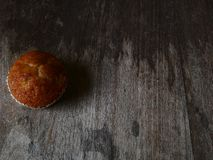 De kopcake van de bakkerij verse banaan en cocomelk stock foto