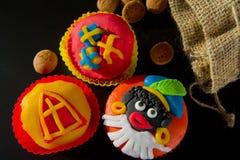 De kopcakes van Sinterklaas Stock Foto