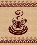 De kopkaart 3 van de koffie. Royalty-vrije Stock Foto