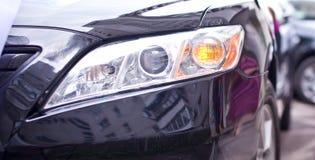 De koplamp van auto's stock afbeelding