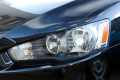 De koplamp van de auto Stock Foto's