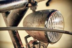 De koplamp van de fiets Stock Foto