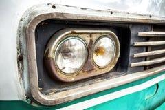 De koplamp van de oude auto royalty-vrije stock afbeelding