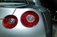 De koplampen van de auto Stock Foto's