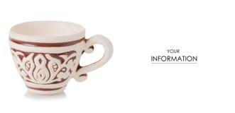 De koppatroon van de koffieklei Stock Fotografie