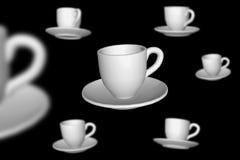 De koppen van Cofee Stock Foto's
