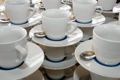 De koppen van Coffe Stock Foto's