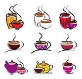De koppen van de koffie Stock Fotografie