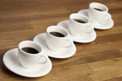 De koppen van de koffie. Stock Foto's