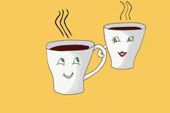 De Koppen van de koffie Royalty-vrije Stock Afbeeldingen
