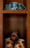De koppen van de koffie en van de thee Stock Afbeeldingen