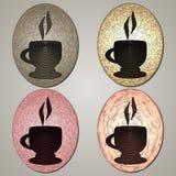 De Koppen van de koffie Grafische stijl Stock Foto