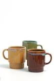 De koppen van de koffie over witte B Royalty-vrije Stock Foto