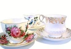 De Koppen van de thee Stock Afbeeldingen