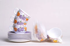 De koppen van de thee Stock Foto's