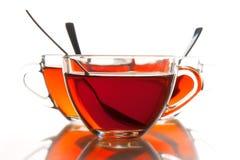De koppen van de thee en thee Stock Afbeelding